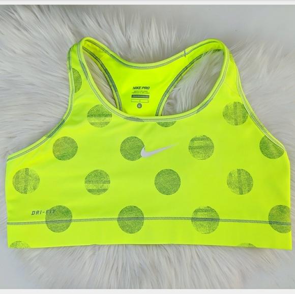 8198844b8c58a Neon yellow Nike pro dri fit sports bra. M 5b37d6013e0caa40624f68ac
